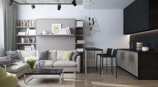 Красивый ремонт в однокомнатной квартире 30 кв. м. в хрущевке