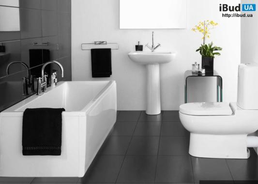 ванная комната дизайн фото черно белая