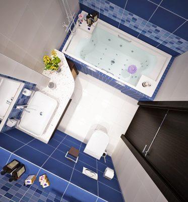 Планировка ванной 4 кв