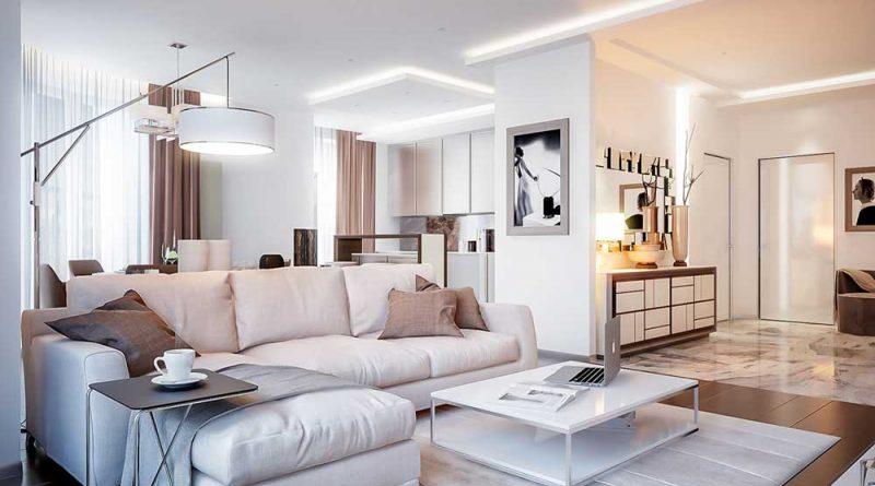 дизайн квартиры в светлых тонах современный стиль реальные фото