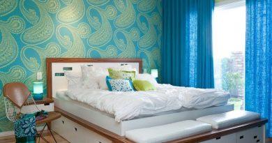обои для спальни 2 цвета комбинировать