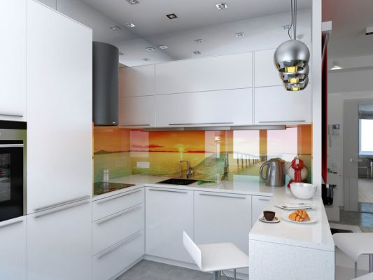 Кухня 7 кв метров фото