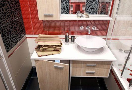 Плитка в ванную комнату дизайн фото 4 кв м