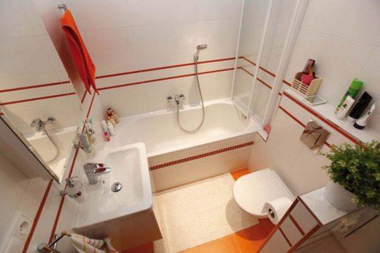 Дизайн маленькой ванной комнаты совмещенной с туалетом 4 кв м: фото
