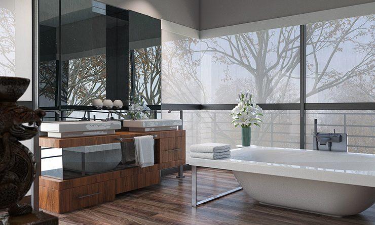 SPC-лаимнат в ванной